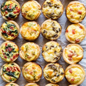 Mini quiches voorbeeld